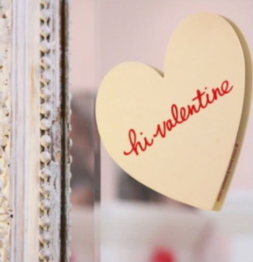Leave a post-it on the bathroom mirror for your sweetheart.