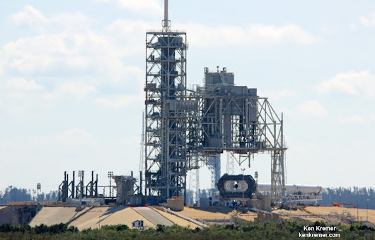 At T Minus 1 Day from ISS Liftoff SpaceX Rolls Falcon 9 to KSC Pad 39A - Feb. 18 Ignition Hinges on FAA License Approval - Universe Today