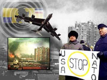 stop aux bombardements de la Serbie par l'OTAN et l'ONU