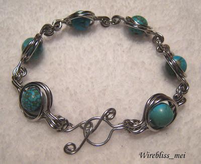 Turquoise Wire Wrap Bracelet