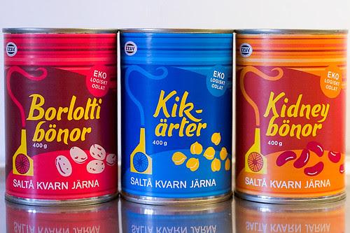 Organic Beans from Saltå kvarn in Järna.