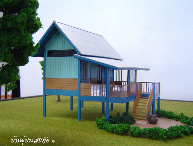 of the Thai House plan that was the inspiration for the build house ...