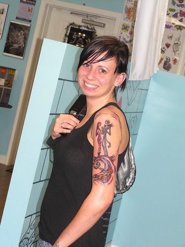 but heres a ~tease shot~ ferr ya of Miss Stevi's Jack N Sally Tattoo I..