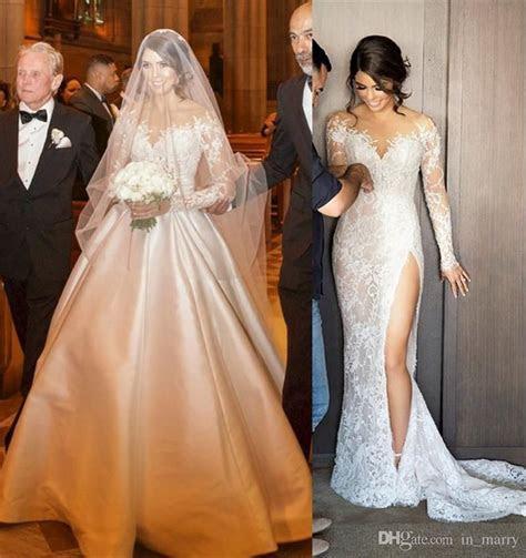 2017 New Designer Mermaid Wedding Dresses Detachable Skirt
