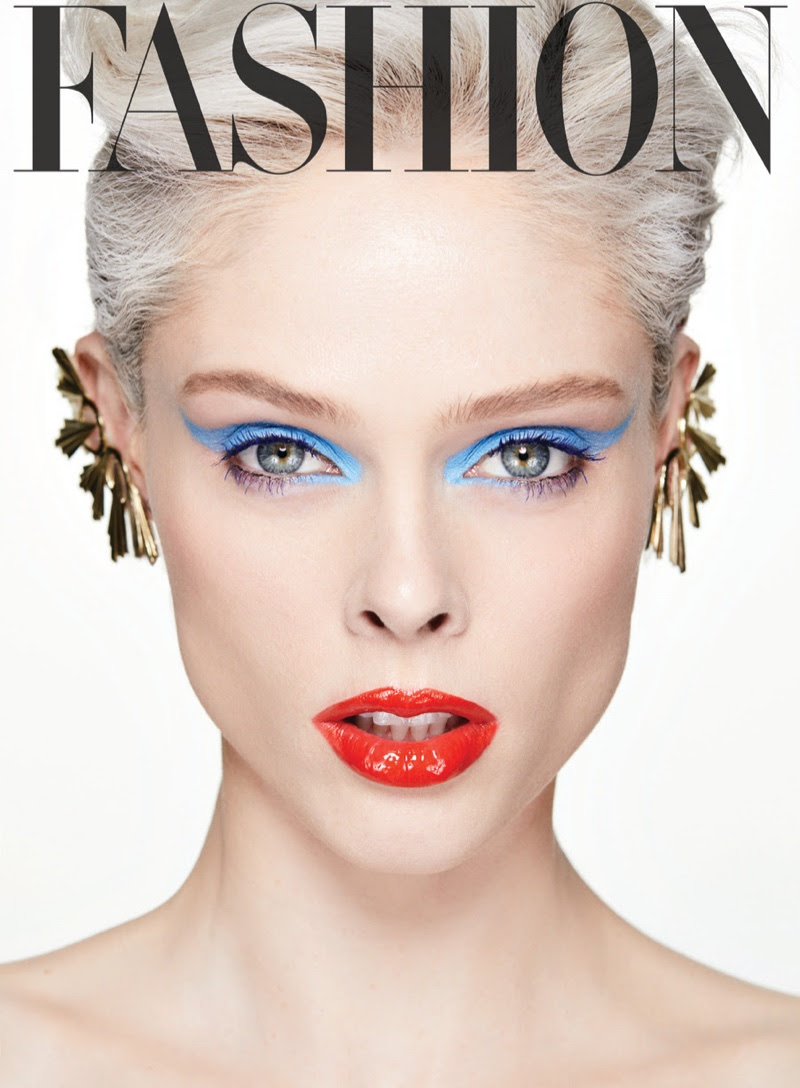 Coco Rocha Models 80's Inspired Beauty Looks for FASHION Magazine
