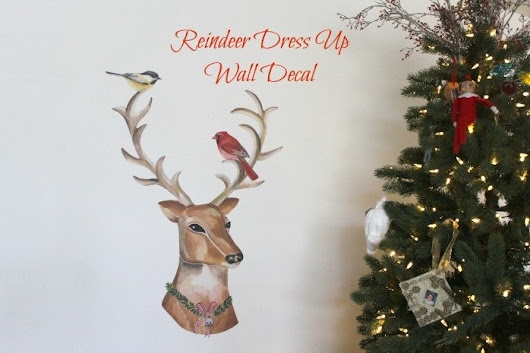 Dress-Up Reindeer Fabric Wall Decals | sparkle