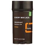 Every Man Jack Deodorant Aluminum Free - Citrus | 3 oz Sticks