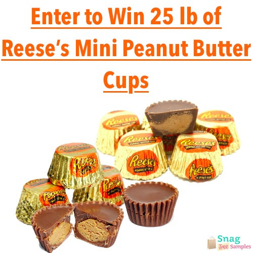 Enter to win 25 POUNDS of Reese's Mini Peanut Butter Cups !