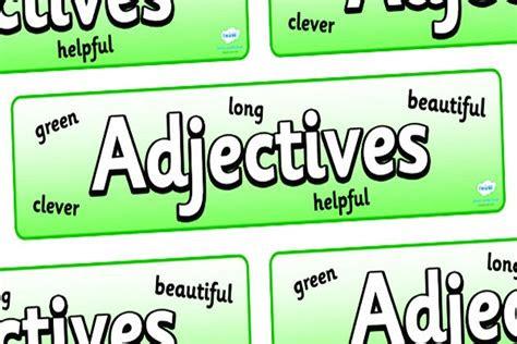 pengertian  contoh kata sifat  bahasa inggris
