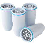 Zerowater Ion Exchange Replacement Water Filter, White - 4 pack
