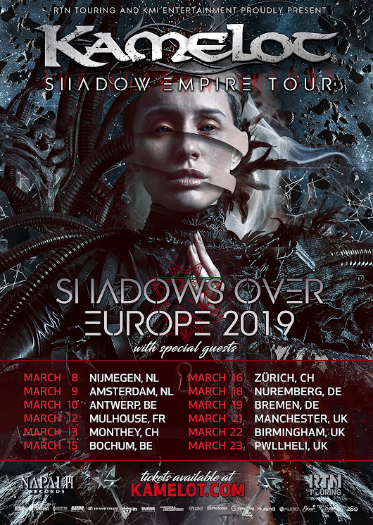 "Kamelot announce ""Shadow Empire European Tour 2019"" – Official Kamelot Website"