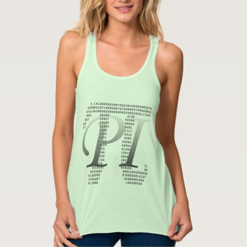 Pi Day Flowy Racerback Tank Top