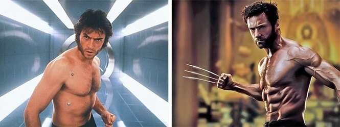 O antes e o hoje de super-heróis conhecidos por todos nós