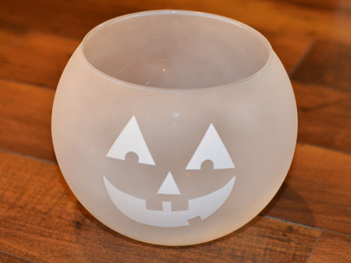Frosted Painted Glass Jack-O-Lantern Candy Bowl supplies