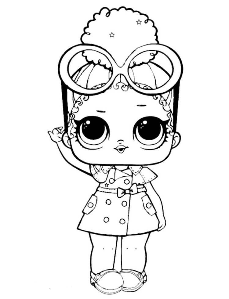 Lol Surprise Coloring Pages Queen Bee Coloring And Drawing