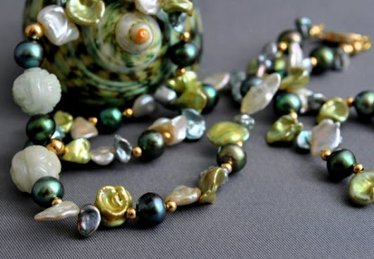 Claire  Pearl necklace OOAK  Keshi pearl pearl by LusterWear