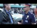 Senator Kiko Pangilinan confronts police officials