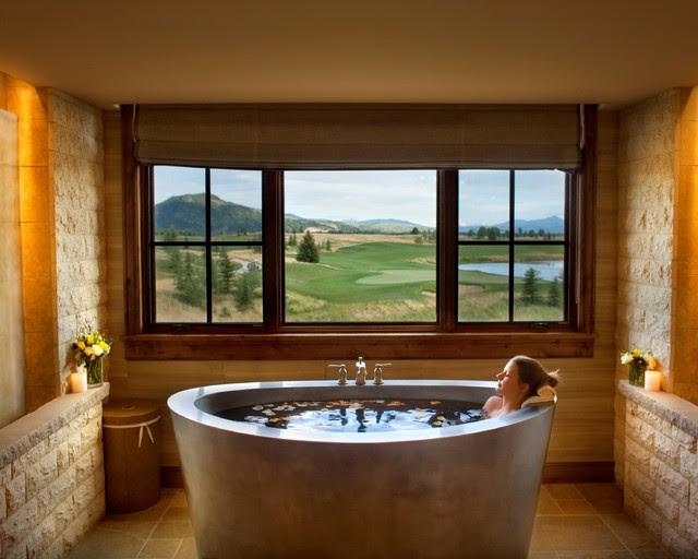 Stainless Steel Duet Japanese Bath - mediterranean - bathroom ...