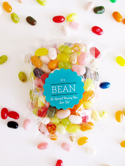 DIY Jelly Bean Wedding Favors — Evermine Blog