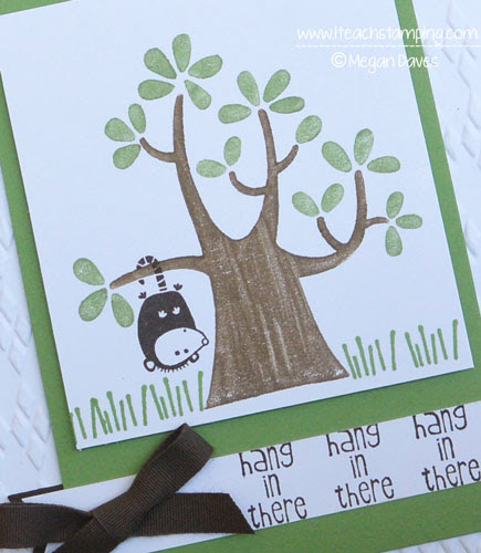 How to Make a Hand Made Card to Cheer Up a Friend {Nuts About You - Stampin' Up!}