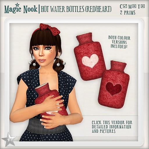 [MAGIC NOOK] Hot Water Bottles (Red / Heart)
