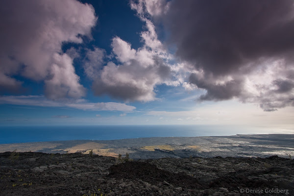 along chain of craters road, hawaii volcanoes national park
