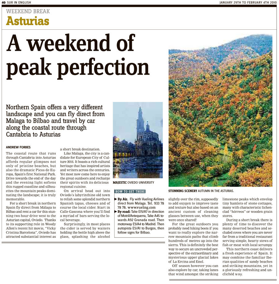 Asturias Travel Article Andrew Forbes