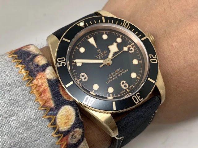 Tudor Black Bay Wrist Shot 4