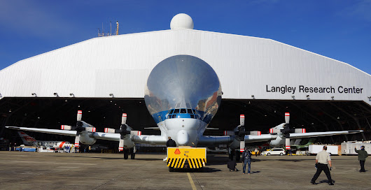 NASA Super Guppy Plane Delivers Large Composite Structure for Testing