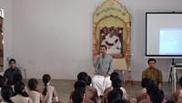Omkar meditation during Workshop on how to face exams at VK Mysore