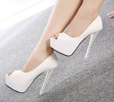 White And Silver Heels   Fs Heel