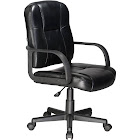 Comfort Products RelaxZen 2-Motor Mid-Back Leather Office Massage Chair, Black