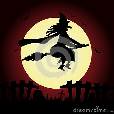 Halloween Witch Stock Illustration - Image: 44095353