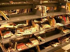 Messy shelves - Children's section
