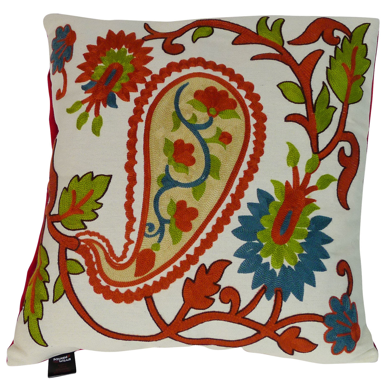 Squish Embroidered Throw Pillows