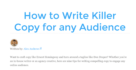 How to Write Killer Copy for any Audience - Builtvisible