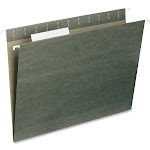 Smead Standard Hanging File Folders, Green, Letter