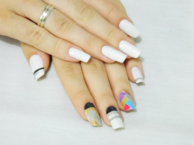 juliana leite nail tutorial unha decorada passoa passo adesivo 057