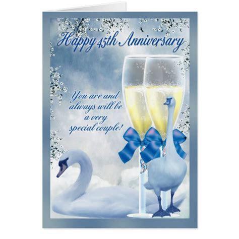 45th Anniversary   Sapphire Anniversary Greeting Card   Zazzle