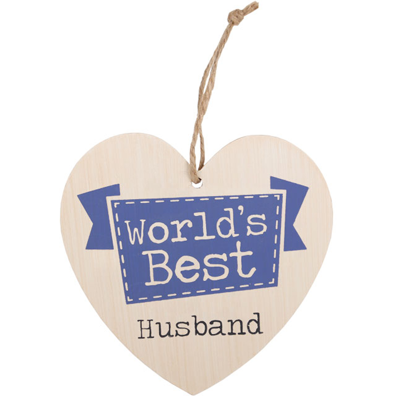 Worlds Best Husband Heart Plaque