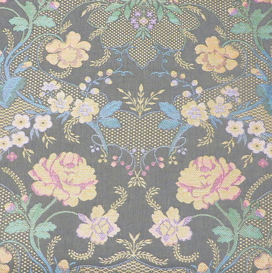 Scalamandré Woven Lampas Style Floral Upholstery Fabric Made in Italy