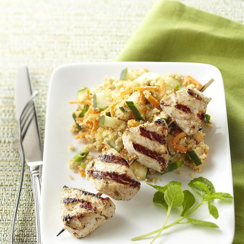 Tandoori Turkey Kebabs with Couscous Recipe - EatingWell