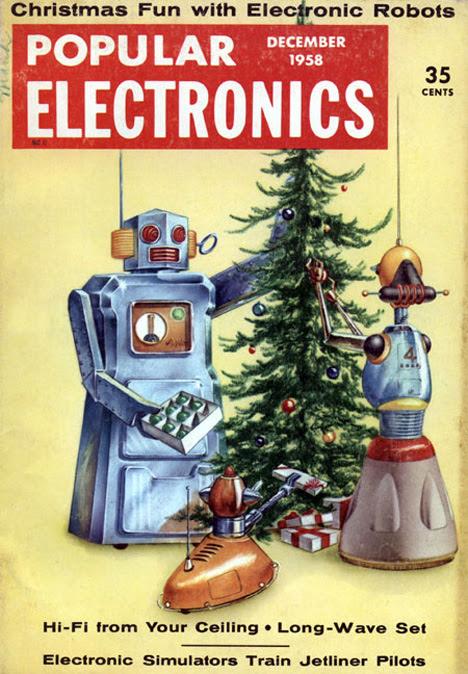 Feliz Natal retrofuturista