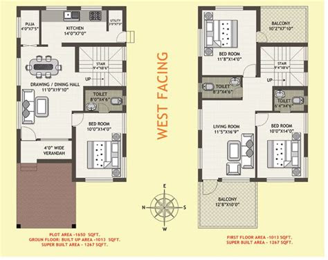 west facing house plan  small plots indian google
