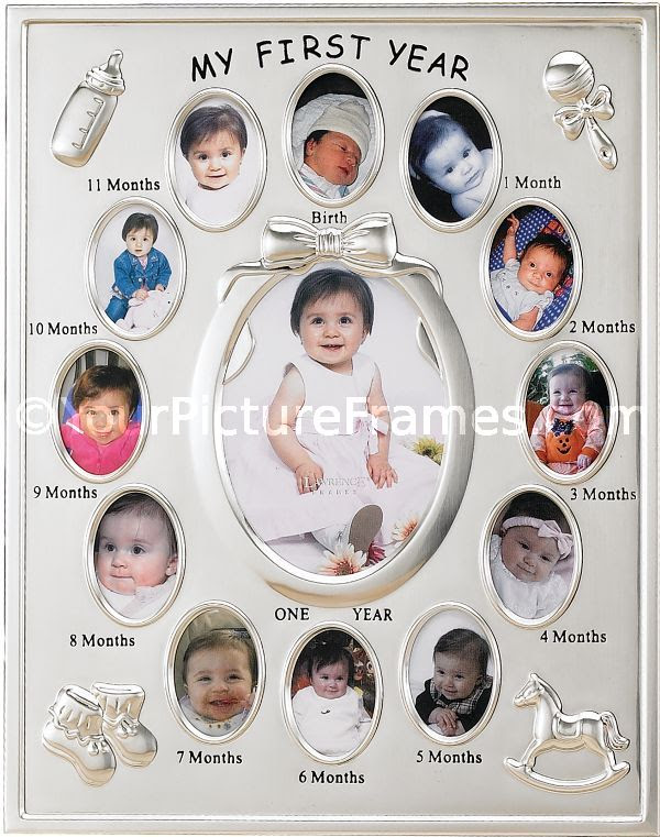 Silver Plated Baby First Year Picture Frame