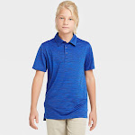 Boys' Golf Polo Shirt - All in Motion Active Blue