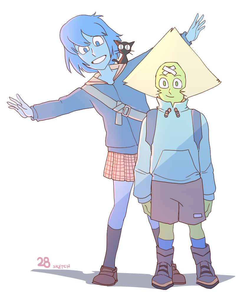 month of Peridot - day 28 beautiful morning with you (flcl dress-up)