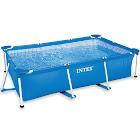Intex Rectangular Frame Above Ground Baby Splash Swimming Pool, Blue