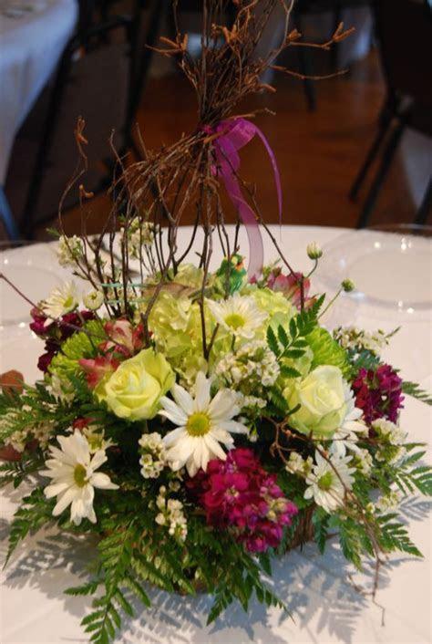 Fresh centerpiece, bird theme   Weddingbee Photo Gallery