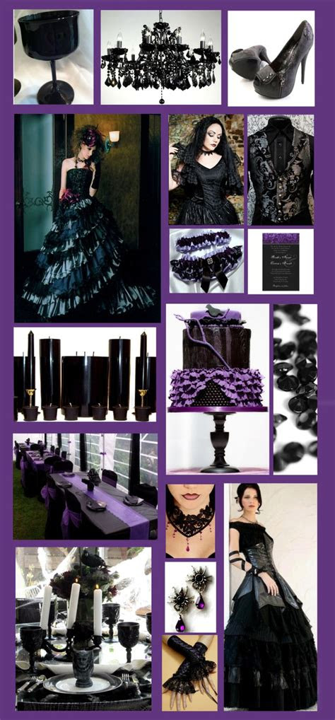 inspiration   glamorous purple  black gothic style